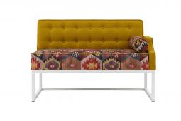 Кухонный диван Оксфорд лайт с подлокотником 7к