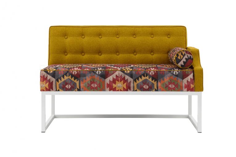Кухонный диван Оксфорд лофт с подлокотником 7к
