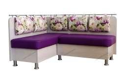 Кухонный угловой диван Сюрприз двухцветный