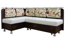 Кухонный угловой диван со спальным местом Сюрприз двухцветный
