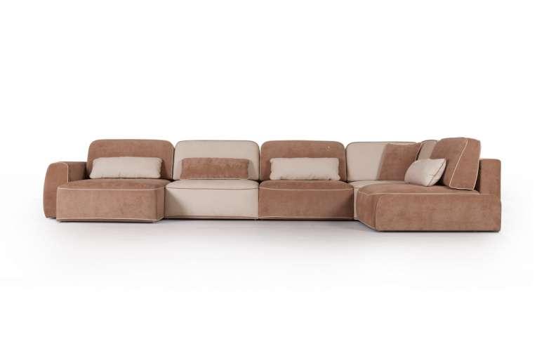 Угловой диван-кровать Шанхай с шезлонгом ВД